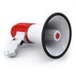 Megaphone - on the ground with half left wiew