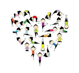 I love yoga! Heart shape for your design