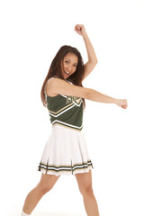 cheerleader cheering