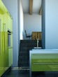 Küchendesign - grüne Küche im Loft 2
