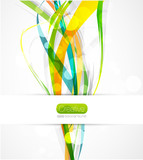 Vector abstract wave color lines