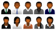 Afro-Caribbean Business & Office Avatars