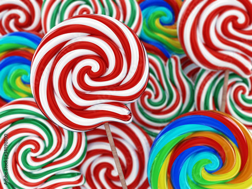 Lollipop candy , 3d illustration