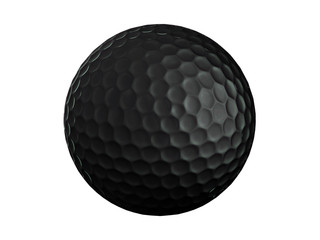 Golf ball-black