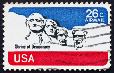 Postage stamp USA 1974 Mt. Rushmore National Memorial