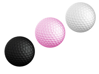 colourful Golf ball