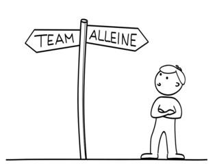 Team oder Alleine