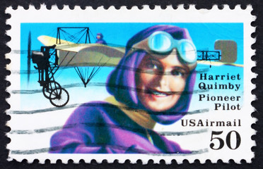 Postage stamp USA 1991 Harriet Quimby, Pioneer Pilot