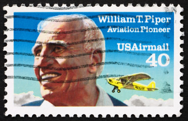 Postage stamp USA 1991 William T. Piper, Aviation Pioneer