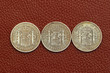 five pesetas spain old coins Alfonso XII Carlos III