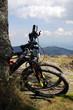 Mountain bikes waiting for a mountain ride
