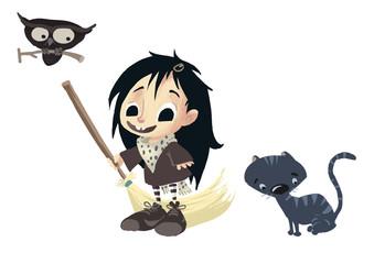 brujita y sus mascotas