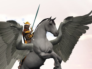 Valkyrie  on winged horse