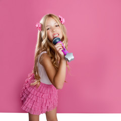 children little star singer like fashion doll with mic