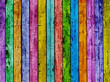 Colorful fence.