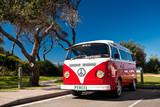 Fototapety Red Combi Van
