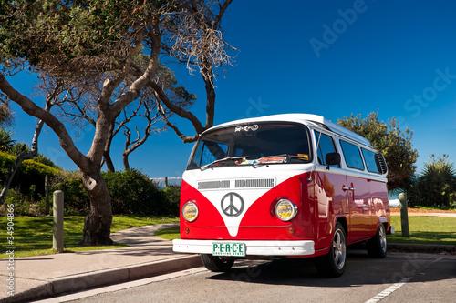 Red Combi Van - 34904866