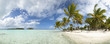 Paradise beach panoramic view