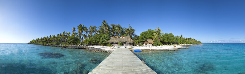 Paradise island panoramic view