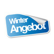 Winter Angebot sticker blau