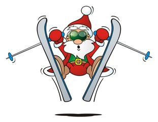 Cool Santa Skiing