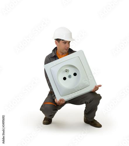 Bricolage - les outils adaptés - Prise électrique géante