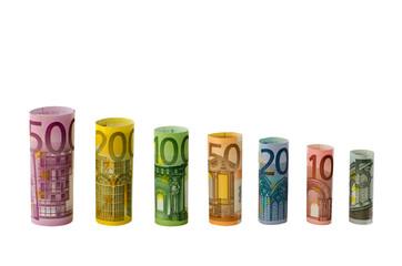 Geldscheine als Diagramm (absteigend)