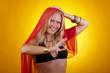 Orientalische blonde Frau
