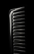 comb on black blackground