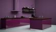 Küchendesign - lila Küche