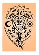 maori tartaruga maschera sole luna