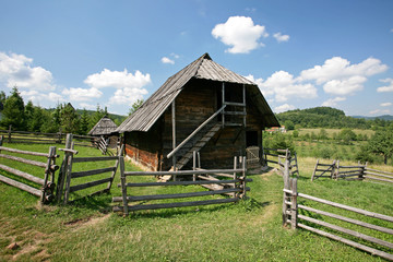 Traditional serbian house in  ethno-village