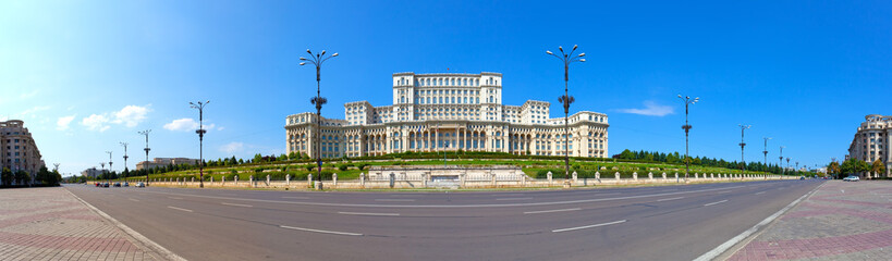 Parliament House panorama, Bucharest, Romania