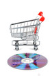 Shopping cart and DVD