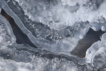 Abstract structures in ice