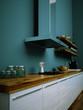 Küchendesign - Küche weiss türkis