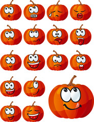 Vector set of halloween pumpkins