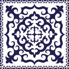 Blue Head Scarf Design