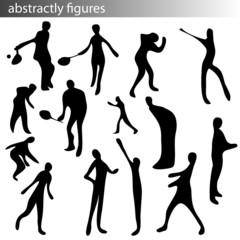 handgezeichnet - umrisse von personen - fitness
