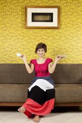 tea time, female model having tea cup on hands, happy.