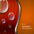 abstract background banner, water drops