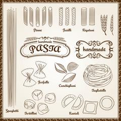 Vector Pasta Set