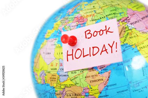 Fototapeta Travel concept with world globe