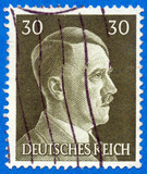Adolf Hitler on German stamp from 1942