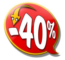 bouton bulle-flèche -40%