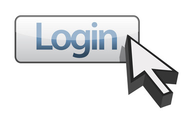 log in button illustration design