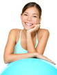 Fitness pilates woman smiling