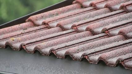 Regenwasser am Dach