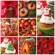Collage christmas cakes