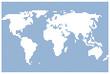 Weltkarte invertiert